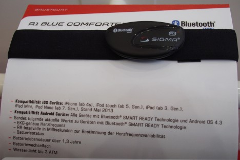 SIGMA R1 Blue COMFORTEX+ - Eurobike 2013