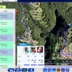 GPSエンターテイメント・Trace My Worldのデモ画面