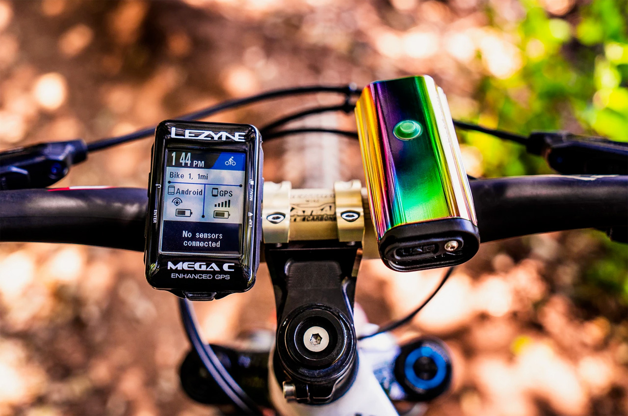 Lezyne LITE DRIVE 1000XL, Neo Metallic, oil-slick